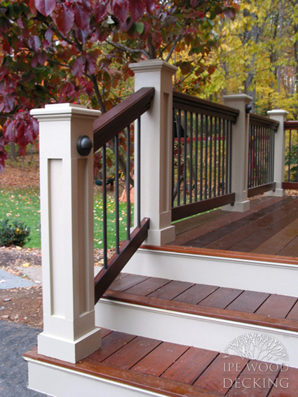 Ipe Wood Decking Steps